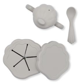 Set vaisselle en silicone Clam Gris Konges Slojd