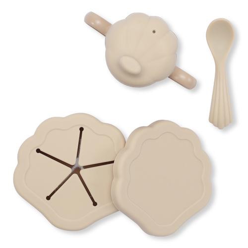 Set vaisselle en silicone Clam Rose Konges Slojd