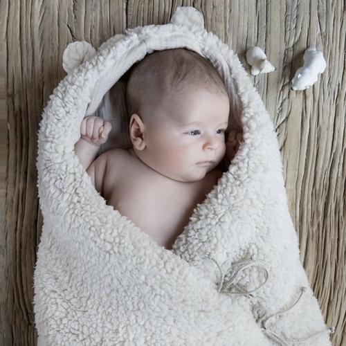 Nid d'ange Teddy soft Mouton Babyshower
