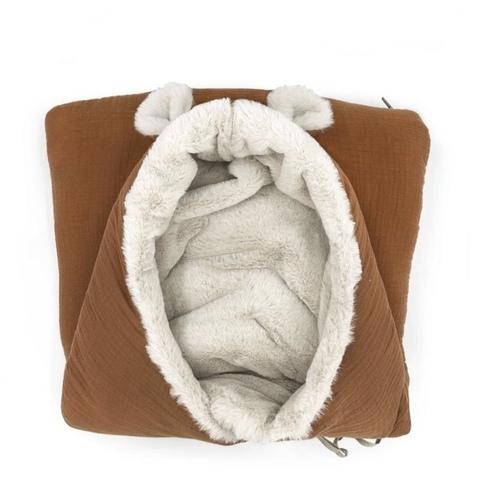 Couverture polaire Teddy caramel Babyshower