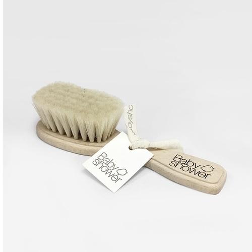 Brosse à cheveux en bois Babyshower